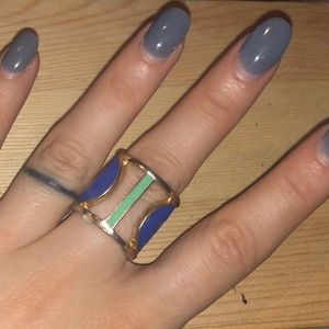 Jewelry - Blue and Gold statement ring